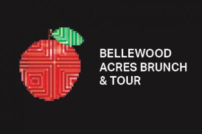 Bellewood Acres Brunch & Tour graphic with apple image